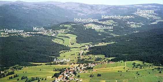 Anfahrt nach Mauth-Finsterau im Bayerischen Wald. urlaub ...